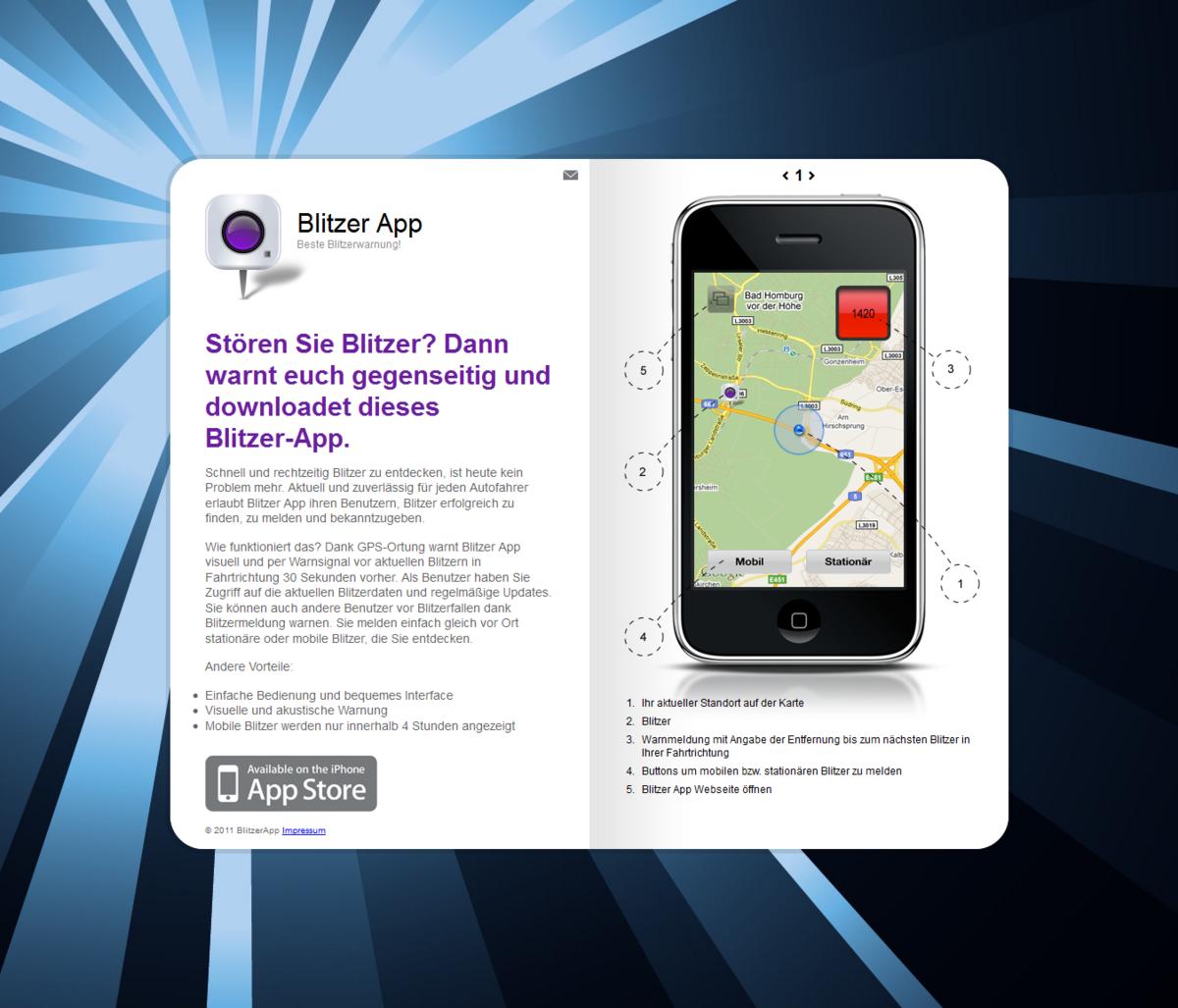 Mobile Blitzer Karte.Mobile Apps